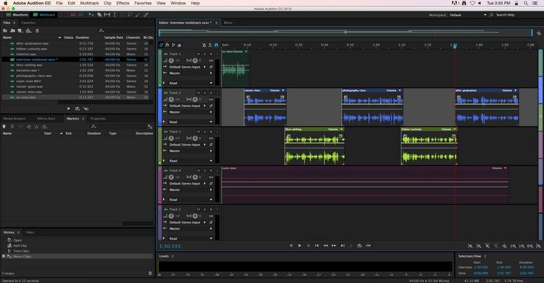 ادوب ادیشن,ایمپورت,Adobe Audition