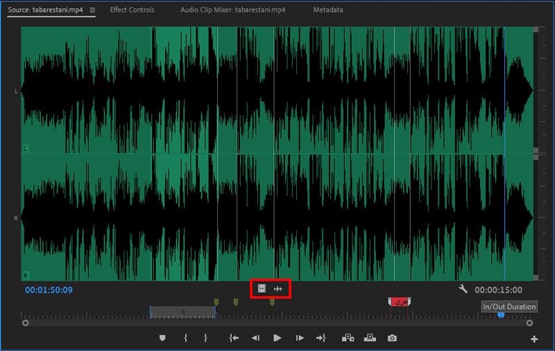 مشاهده بهتر صدا یا تصویر از پنل سورس در پریمیر